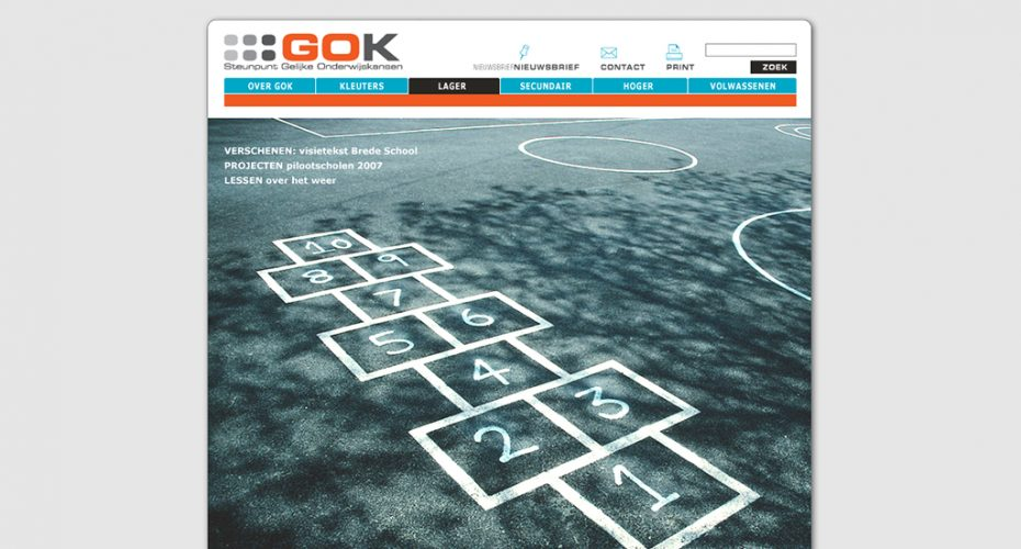 webdesign steunpunt GOK