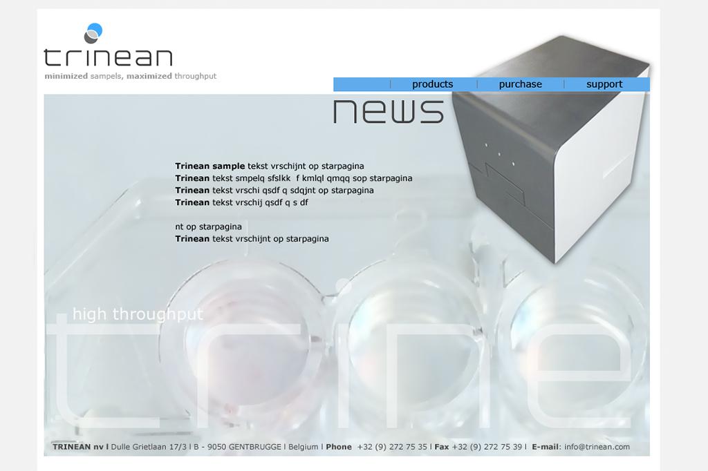 Webdesign - TRINEAN - bio technology