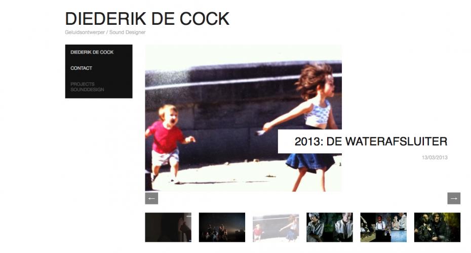 Webdesign Diederik de Cock - Leen de Smedt