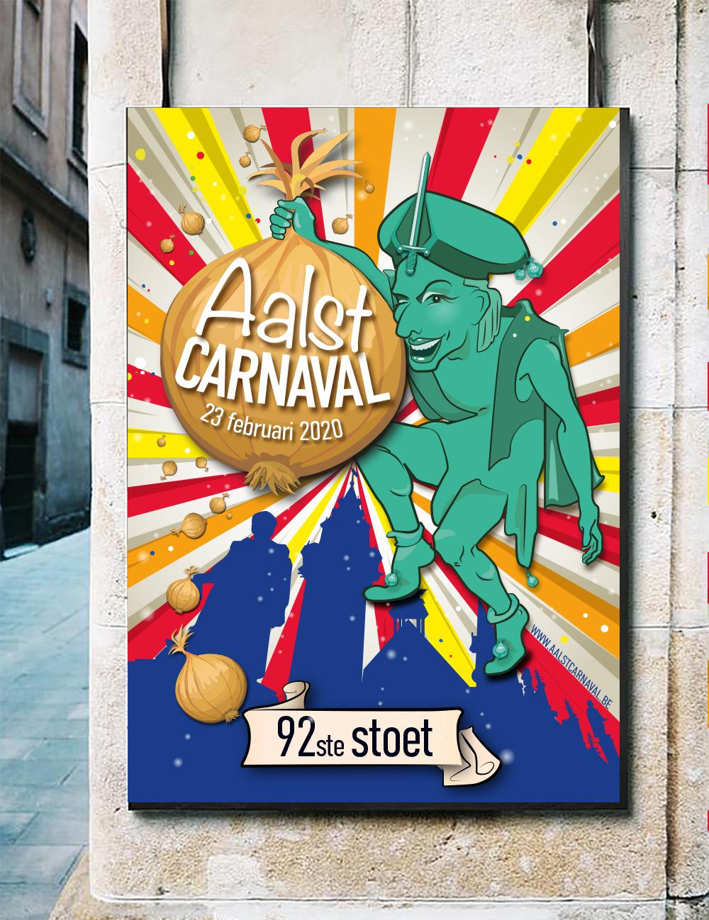 Poster design A1 Carnaval Aalst 2020